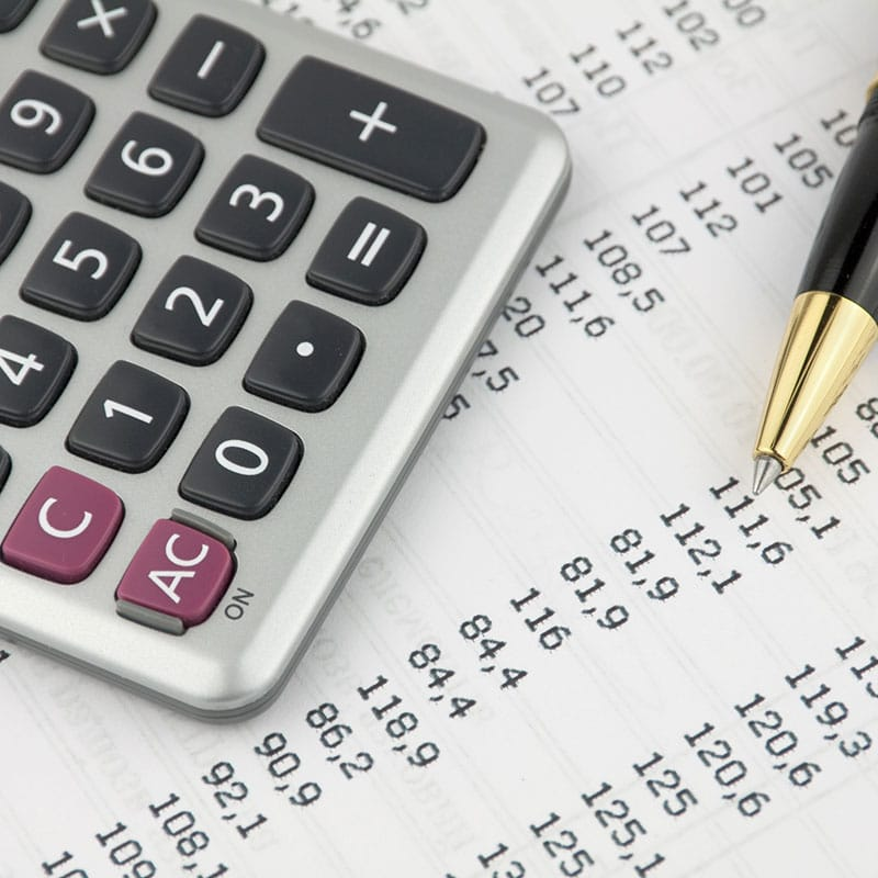Calculator with itemized tax numbers - Benefit Strategies Inc