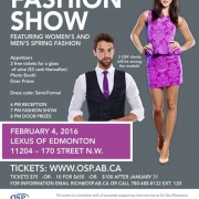 OSP Fashion Show Poster from Feb 4, 2016