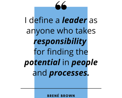 Brene Brown quote - I define a leader as...
